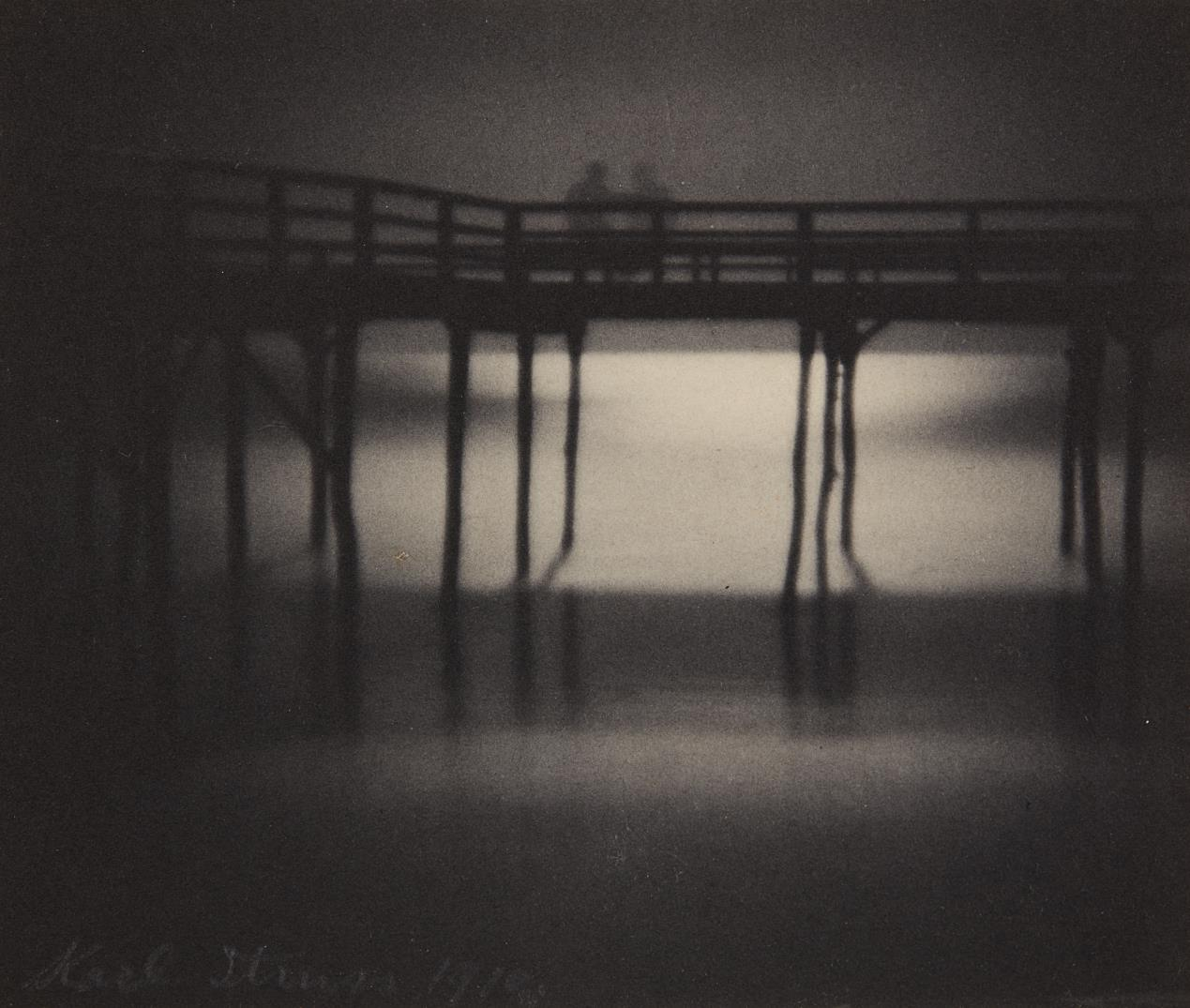 Karl Struss-Reflections, Moonlight, Arverne, Long Island-1910