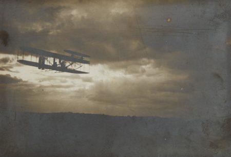 Unknown Photographer - Wilbur Wright in Flight-1909