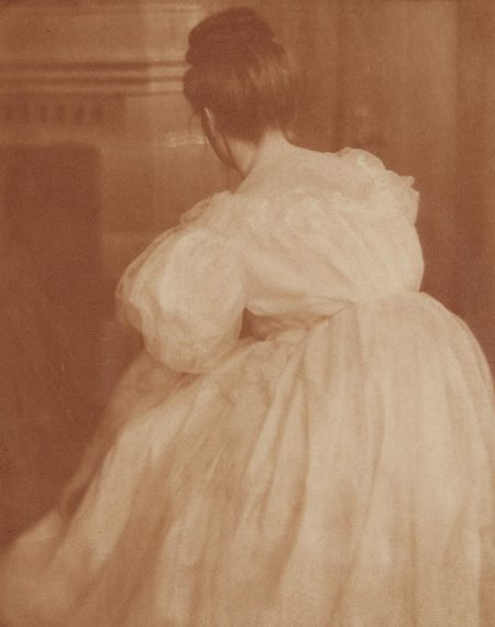 Heinrich Kuhn-Miss Mary in Evening Costume-1908