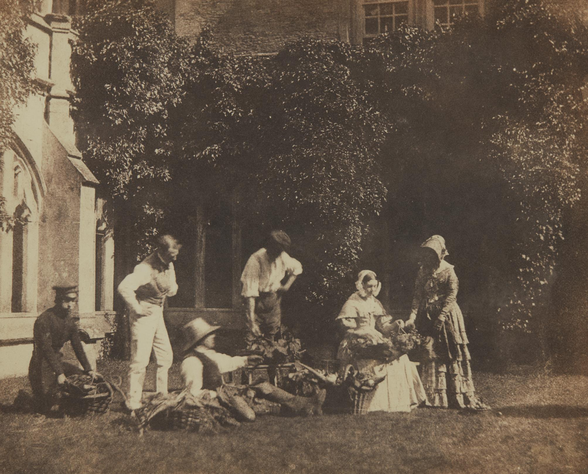 William Henry Fox Talbot-The Fruit Sellers-1845