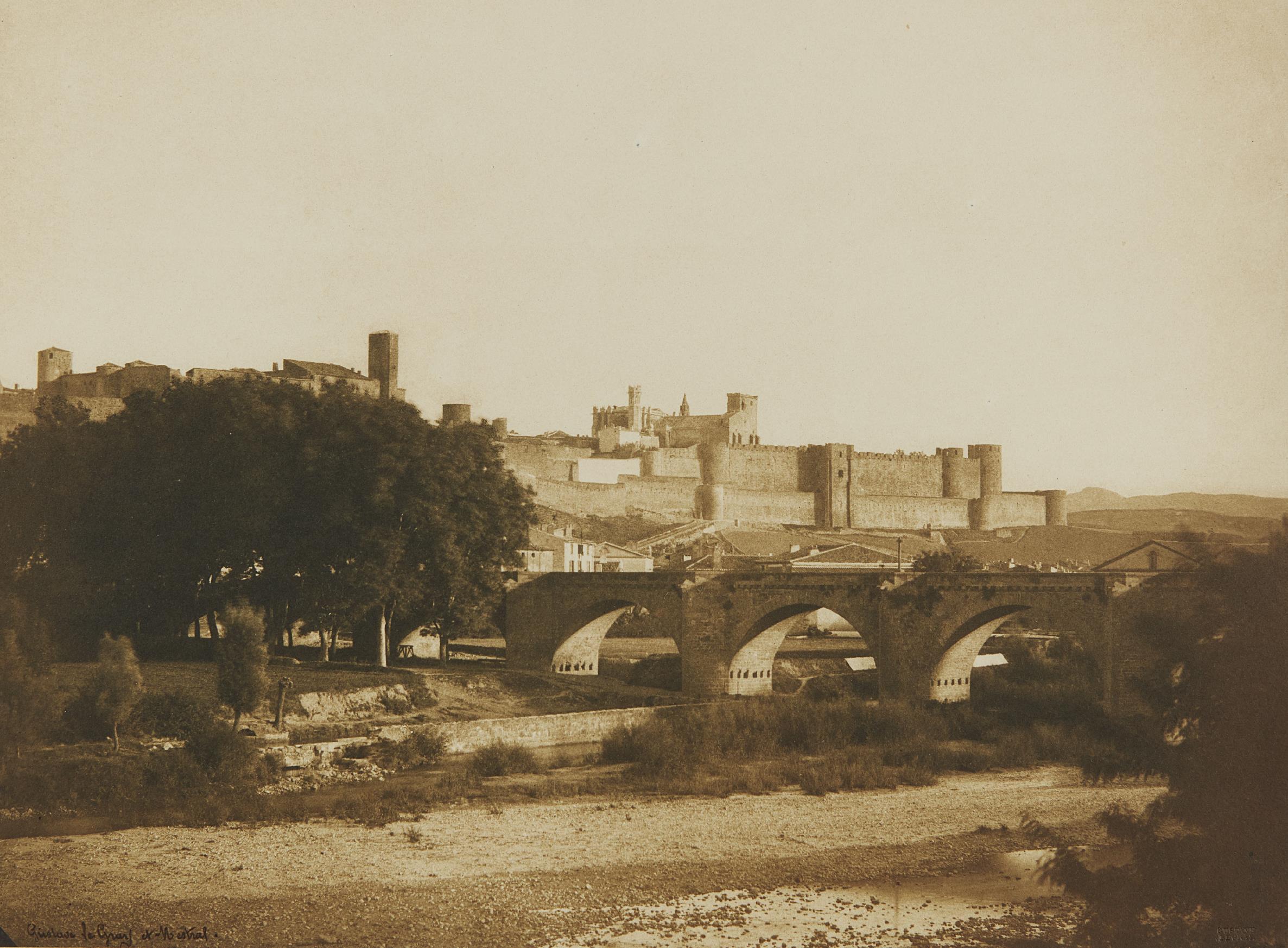 Gustave Le Gray-Vue generale des remparts de Carcassonne, prise de l'ouest-1851