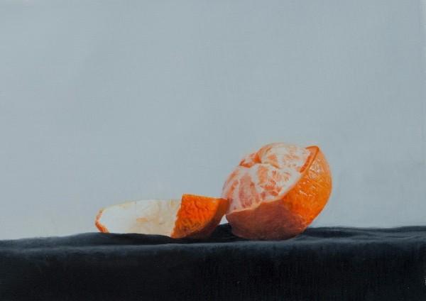 Michael Sydney Moore-Oranges In Blue (Painting)-