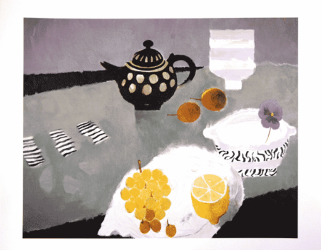 Mary Fedden-The Purple Pansy-