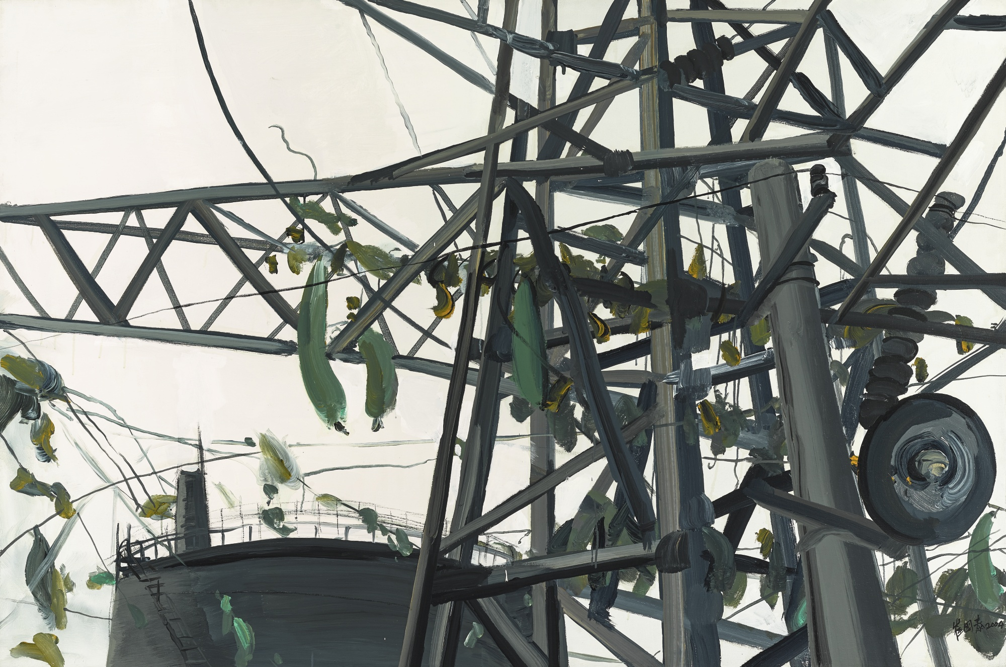 Cui Guotai-High Voltage Rack Entwined With Tendrils-2004
