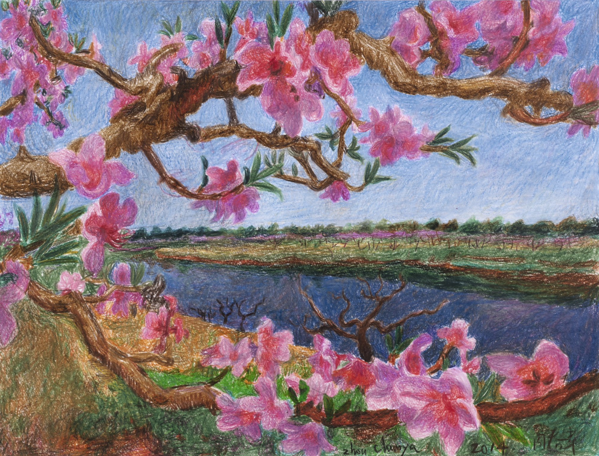 Zhou Chunya-Peach Blossom I-2014
