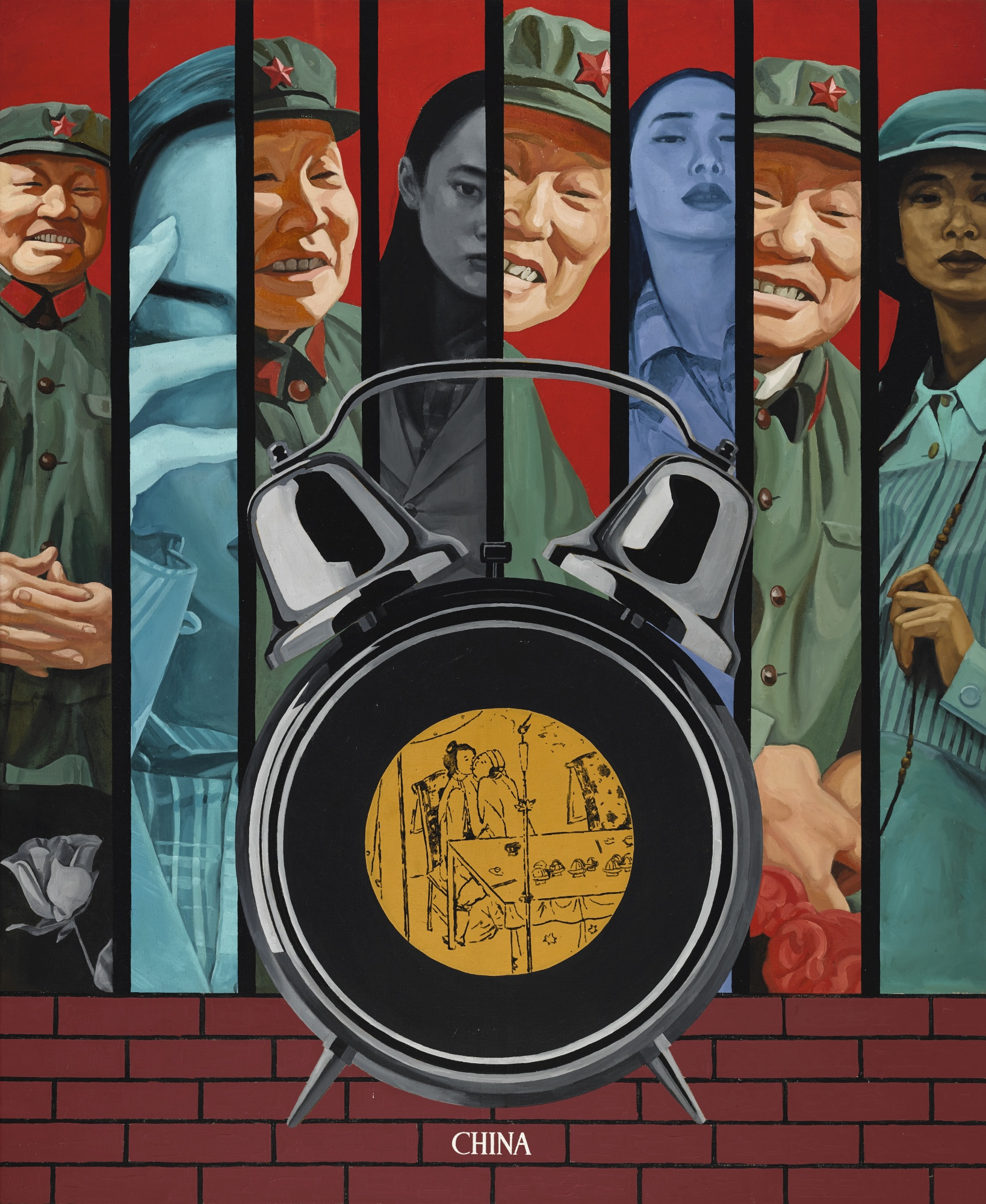 Wei Guangqing-Red Background No.1-1994