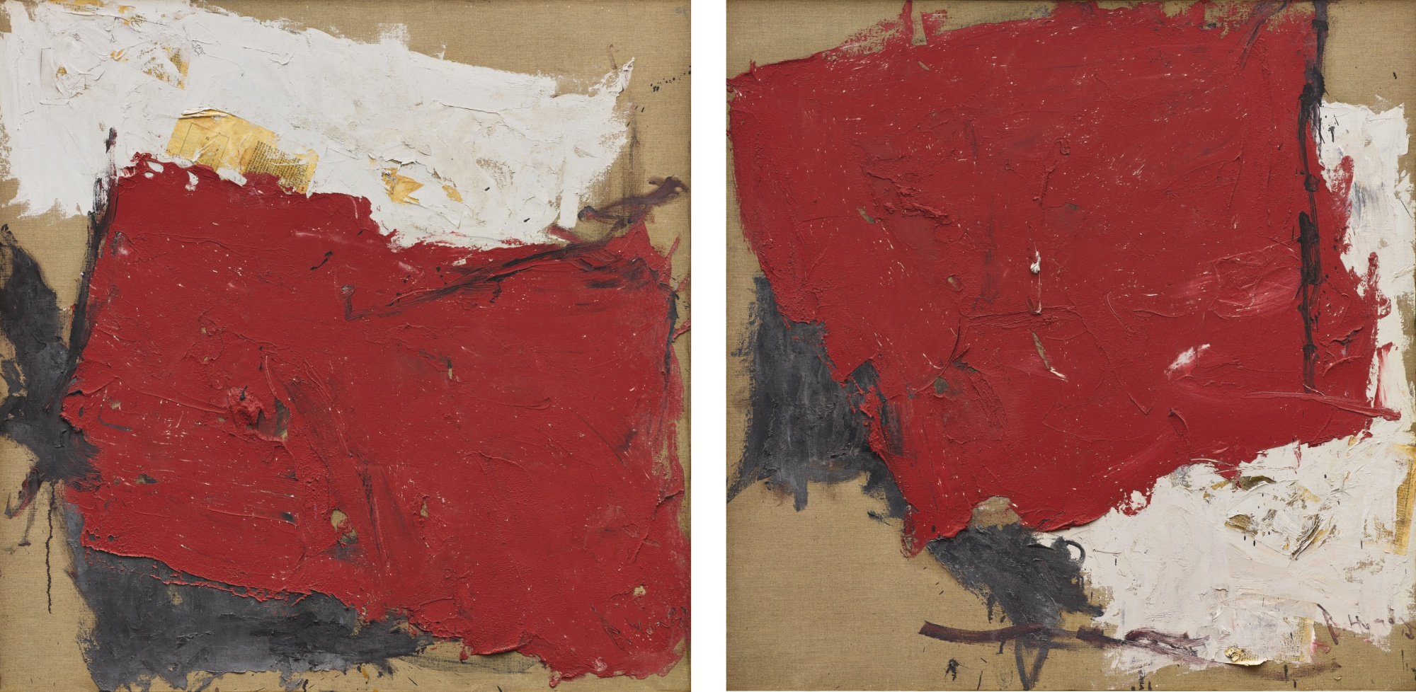 Huang Rui-Red No.1 (Diptych)-1991