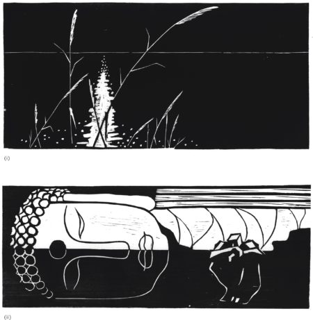 Ma Desheng-(I) Reflection From Water At Night (II) Lying Buddha (Two Works)-1980