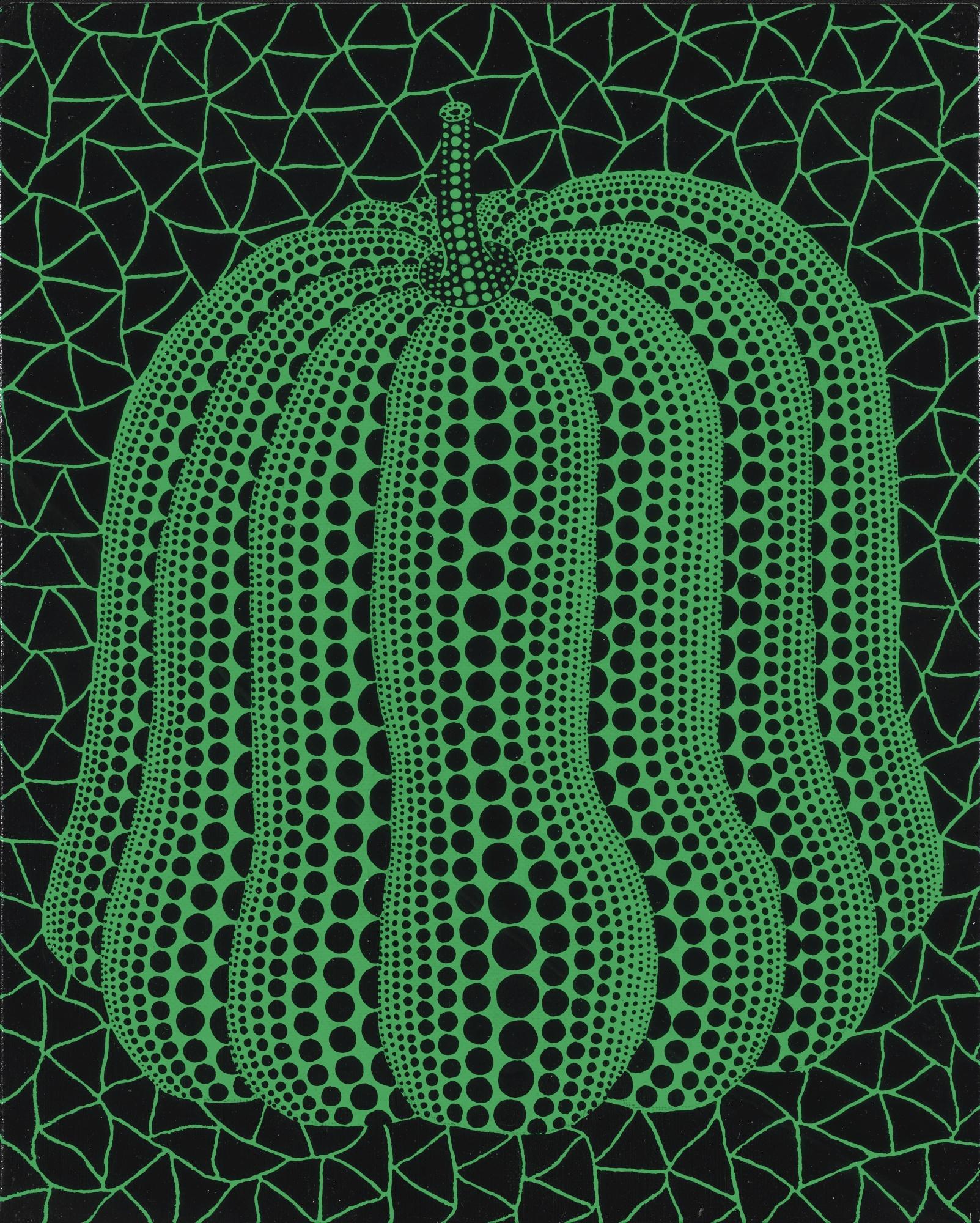 Yayoi Kusama-Pumpkin Green-2005