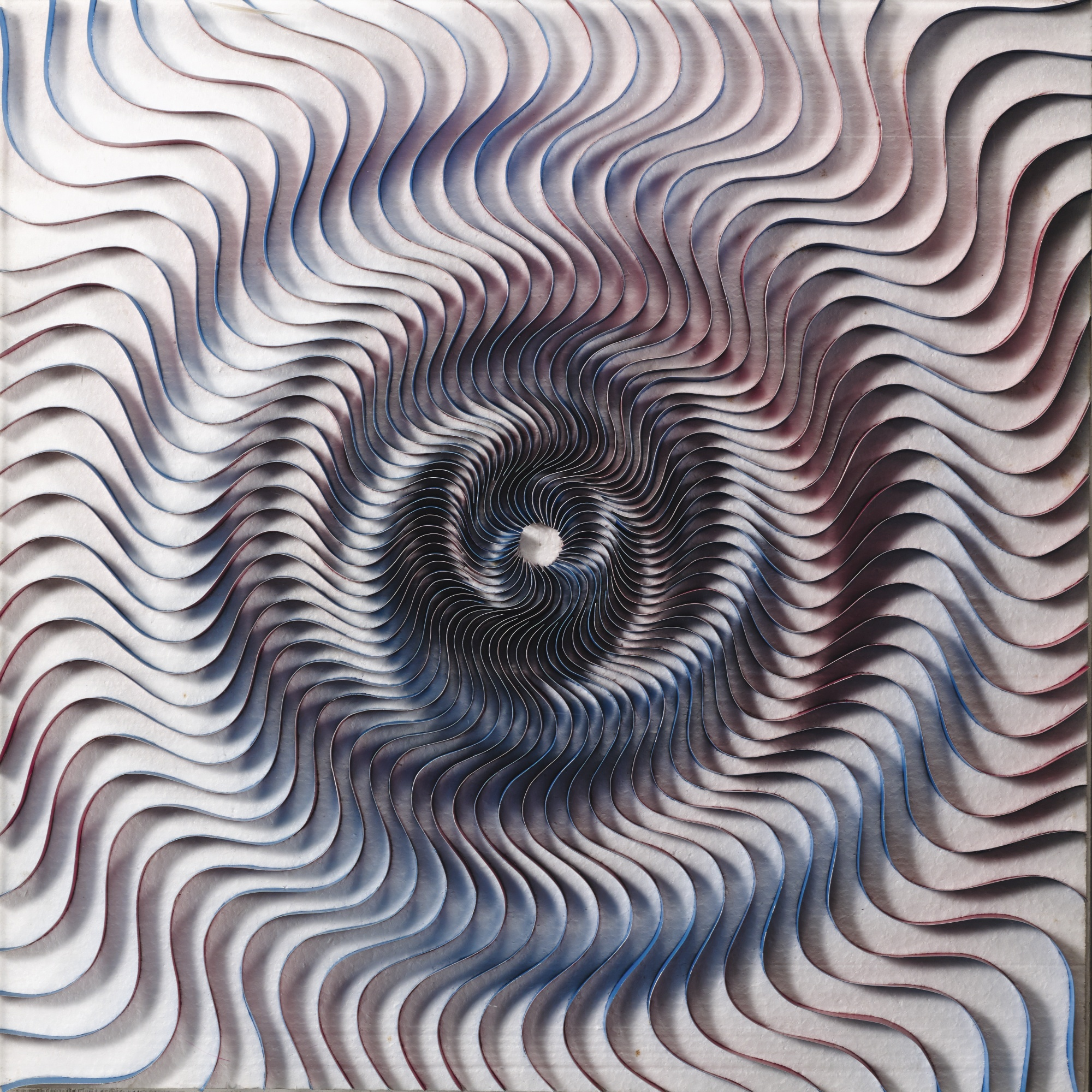 Kumiko Imanaka-Blue And Red Swirl No. 14-1966