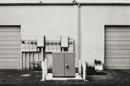Lewis Baltz-North Wall, Niguel Hardware, 26087 Getty Drive, Laguna Niguel from The new Industrial Parks near Irvine, California-1974
