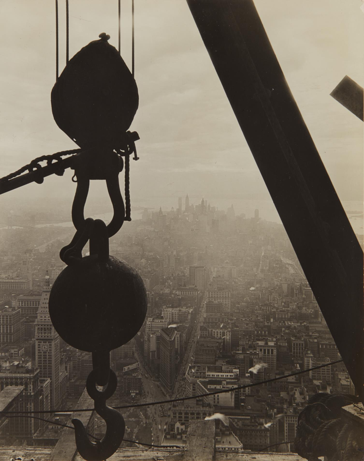 Lewis Wickes Hine-The view onto Lower Manhattan from the Empire State Building-1930