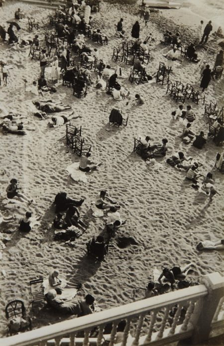 Josef Albers-Kleiner Strand am Nachmittag (small beach in the afternoon), Biarritz-1929
