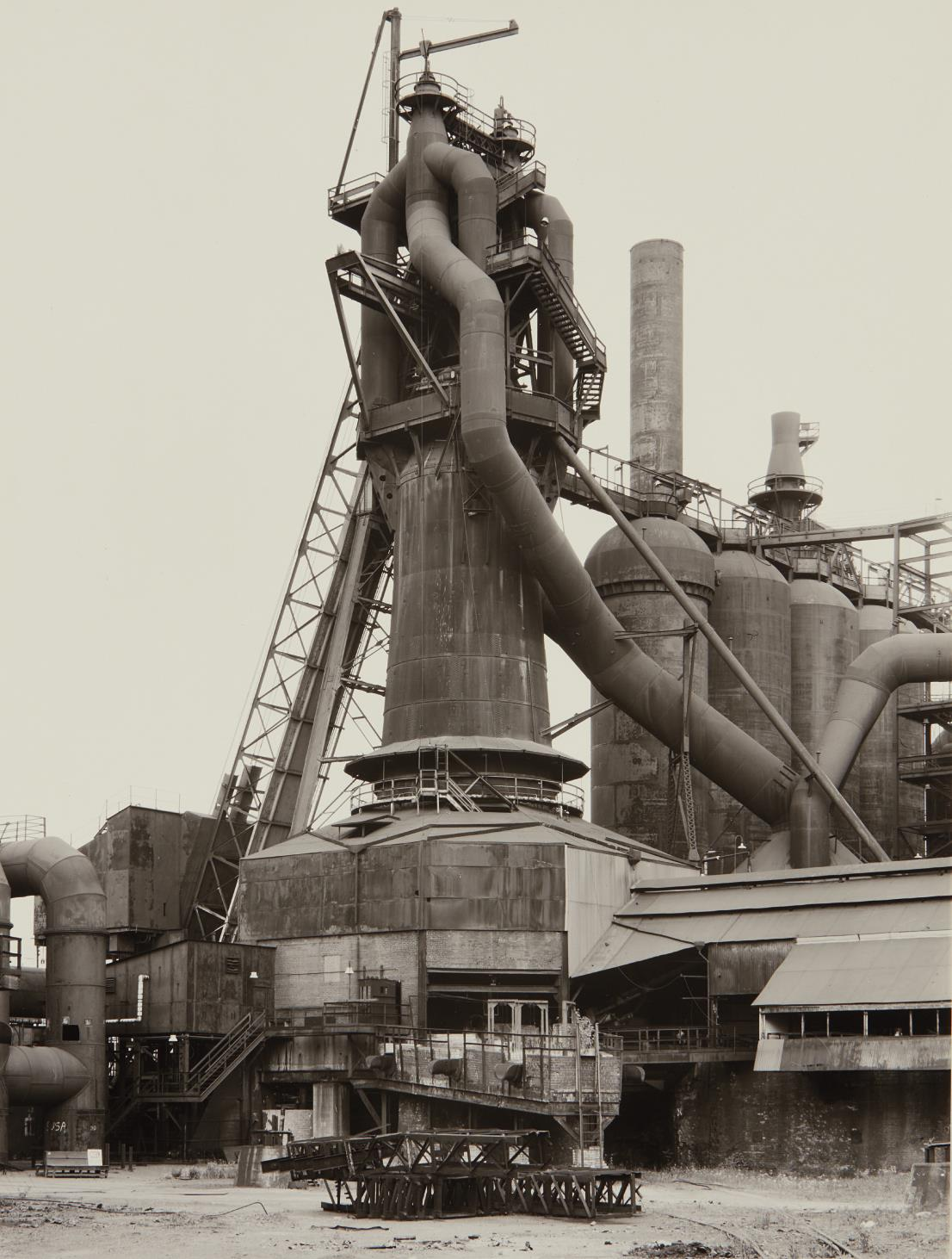 Bernd and Hilla Becher-Youngstown Works, Blast Furnace 4-1981
