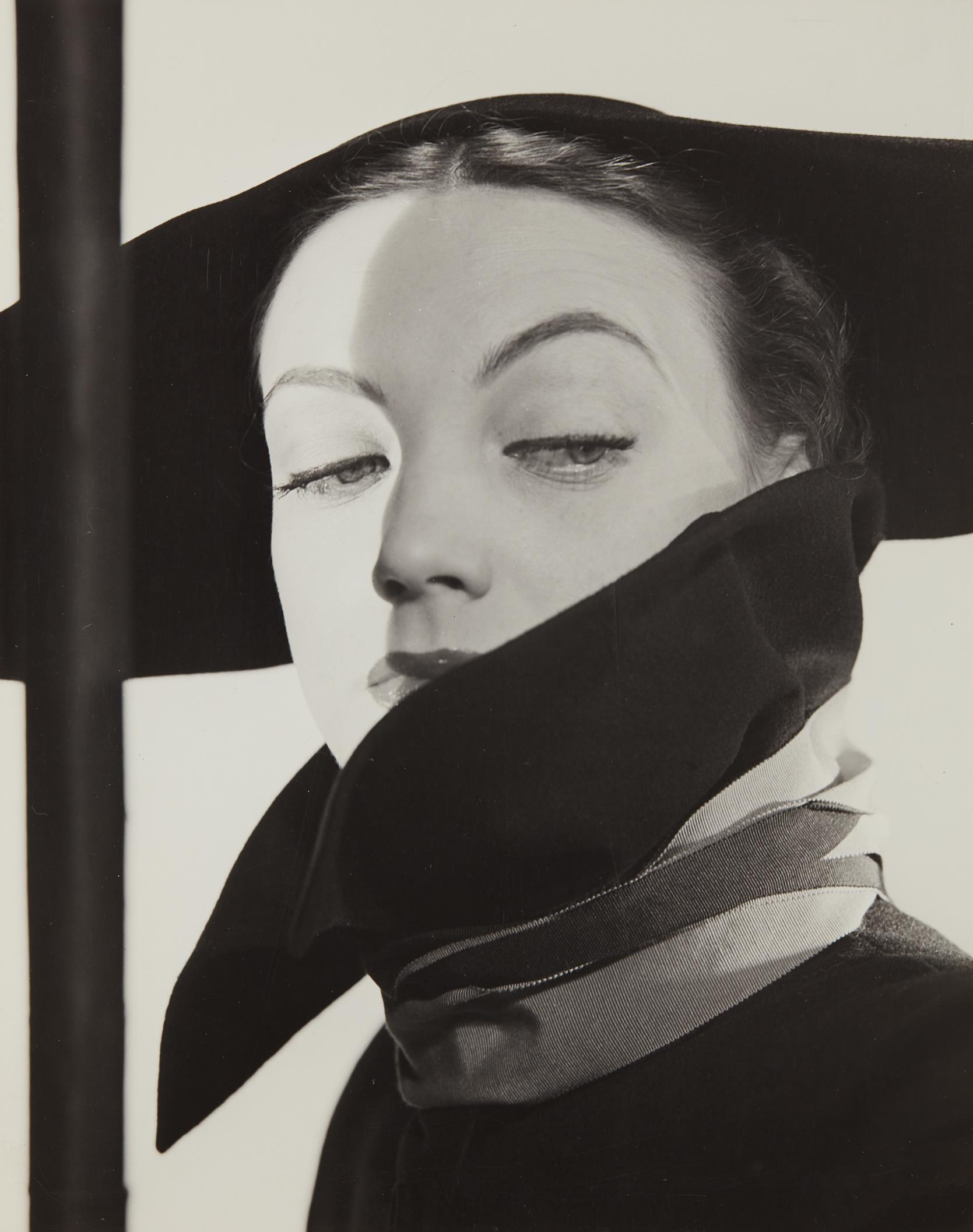 Erwin Blumenfeld-Hat Fashion, Dior, New York-1946