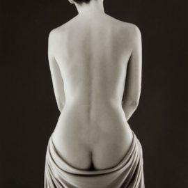 Ruth Bernhard-Draped Torso-1962