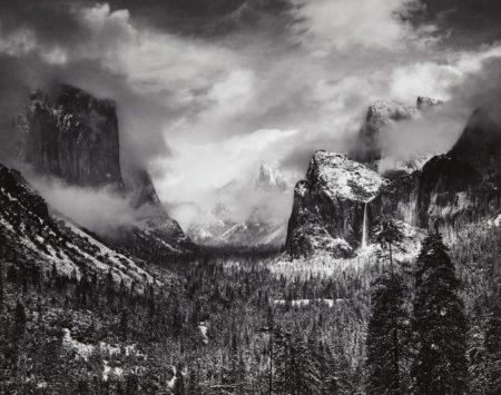 Ansel Adams-Clearing Winter Storm, Yosemite National Park, California-1944