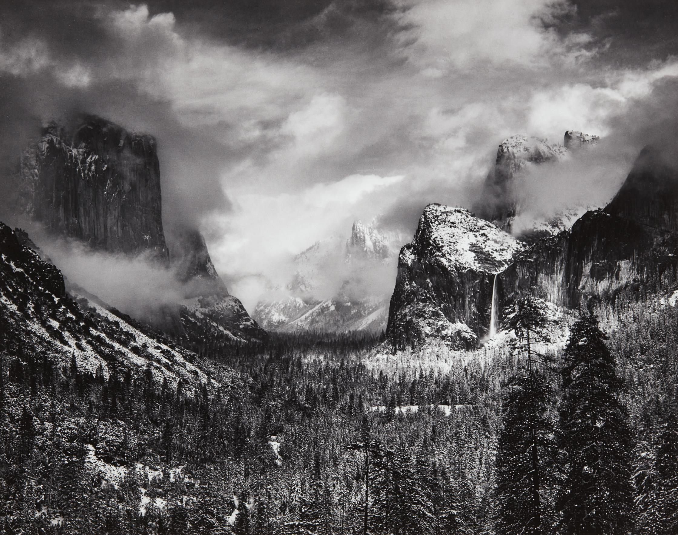 Ansel Adams-Clearing Winter Storm, Yosemite National Park, California-1944