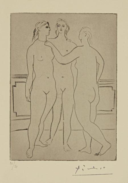 Pablo Picasso-Le Collier (B. 58; Ba. 103)-1923