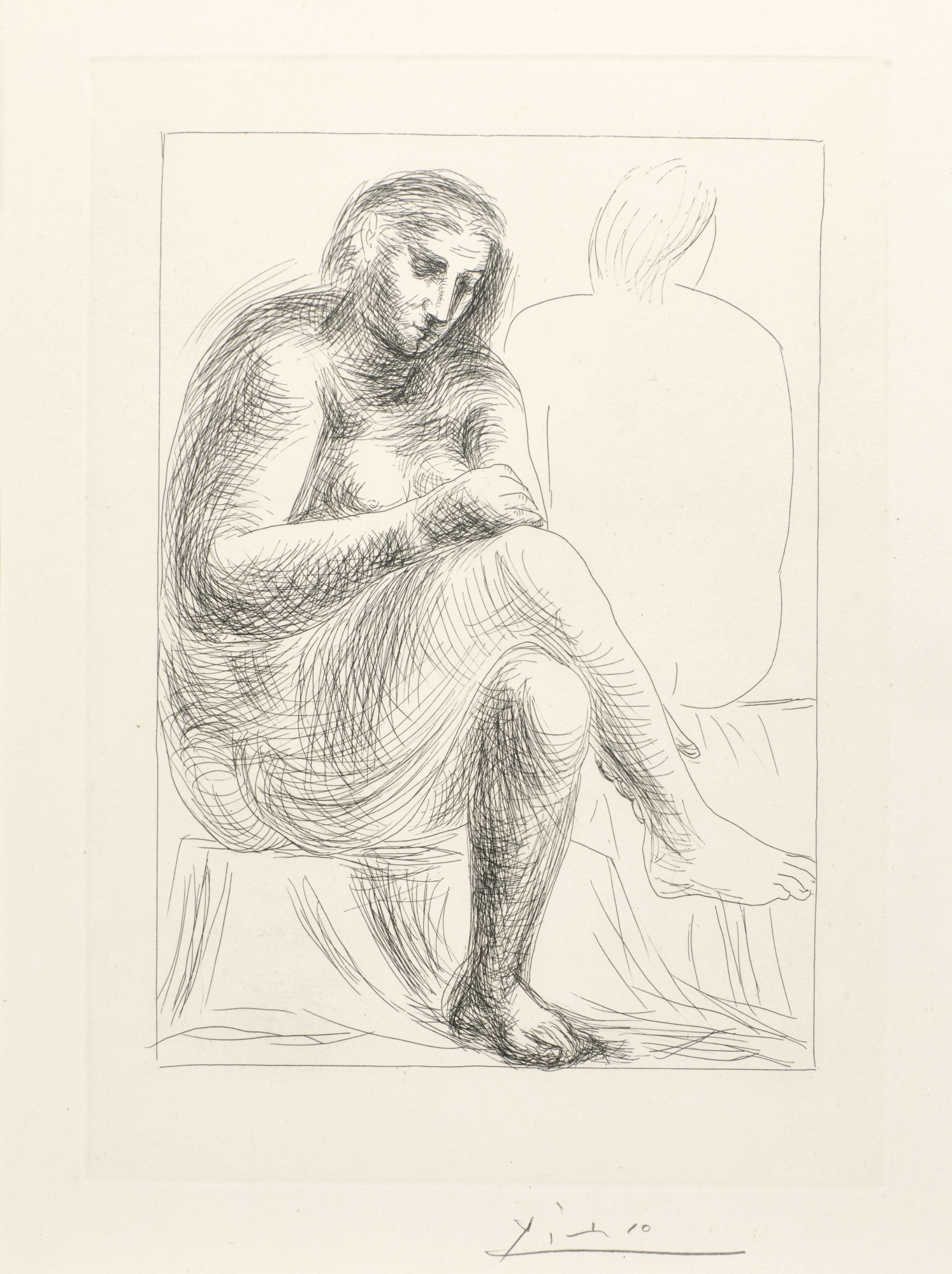 Pablo Picasso-Au Bain (B. 136; Ba. 201)-1930