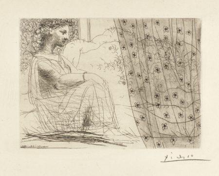 Pablo Picasso-Minotaure Endormi Contemple Par Une Femme (B. 193; Ba. 352)-1933