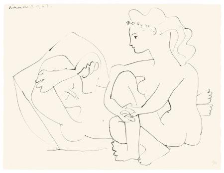 Pablo Picasso-Jeunes Femmes Nues Reposant (B. 453; M., Pp. 102)-1947