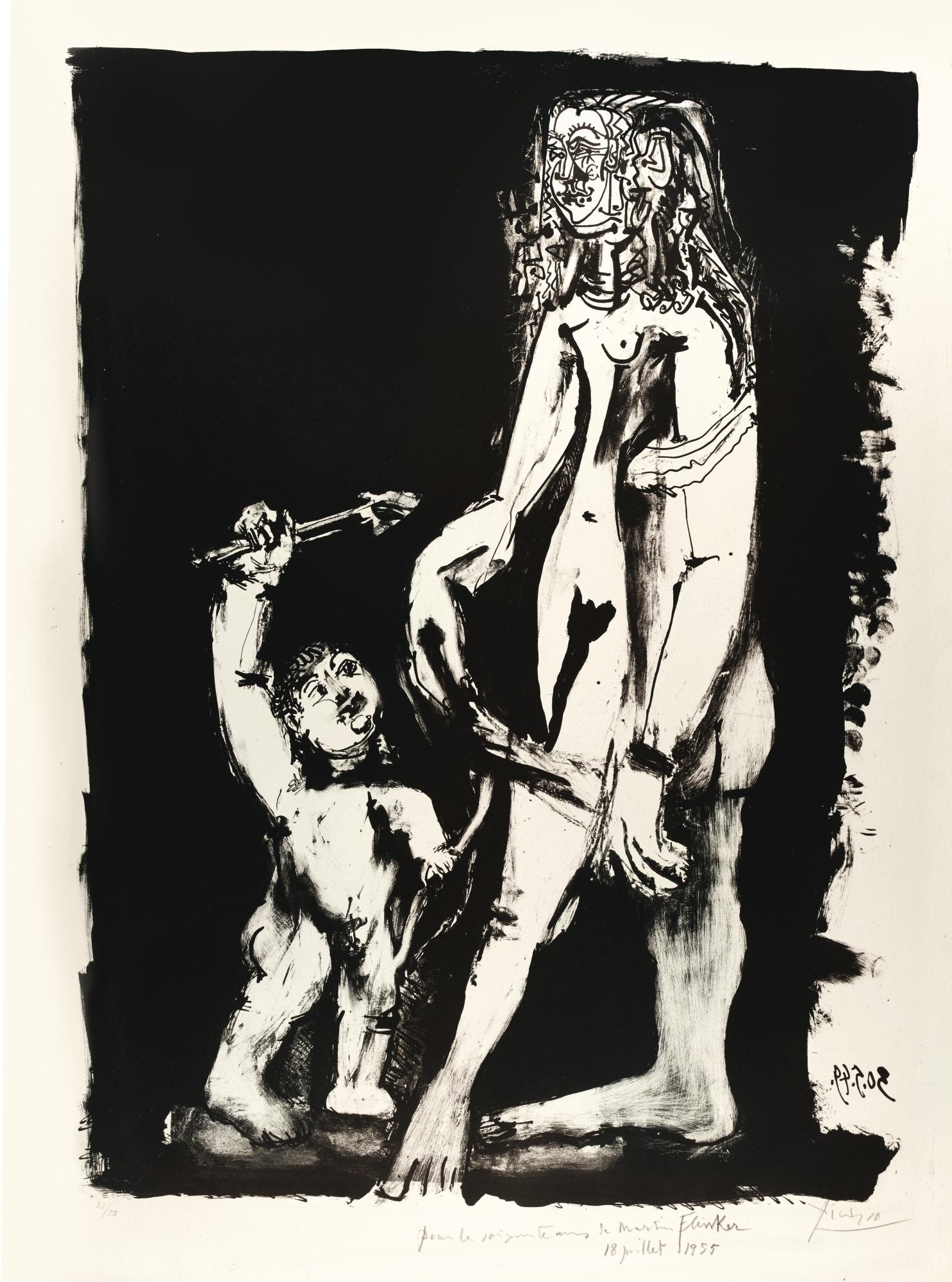 Pablo Picasso-Venus Et L'Amour, 2E Variation (B. 613; M., Pp. 183)-1949