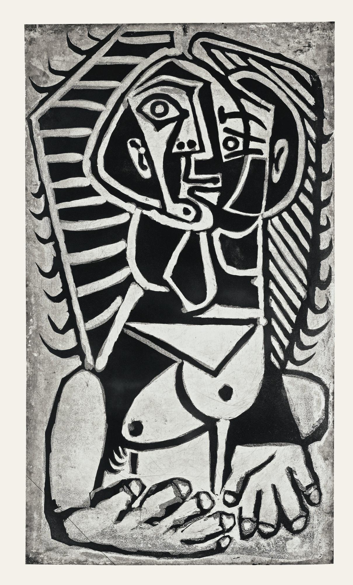 Pablo Picasso-L'Egyptienne (B. 746; Ba. 906)-1953