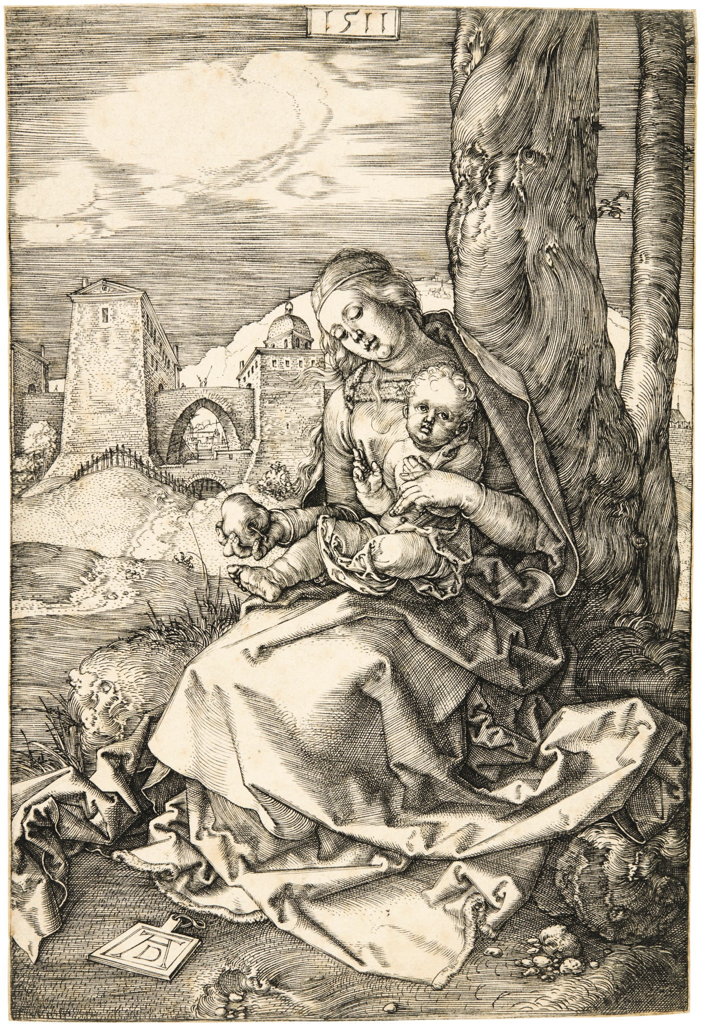 Albrecht Durer-The Virgin And Child With The Pear (B. 41; M., Holl. 33)-1511