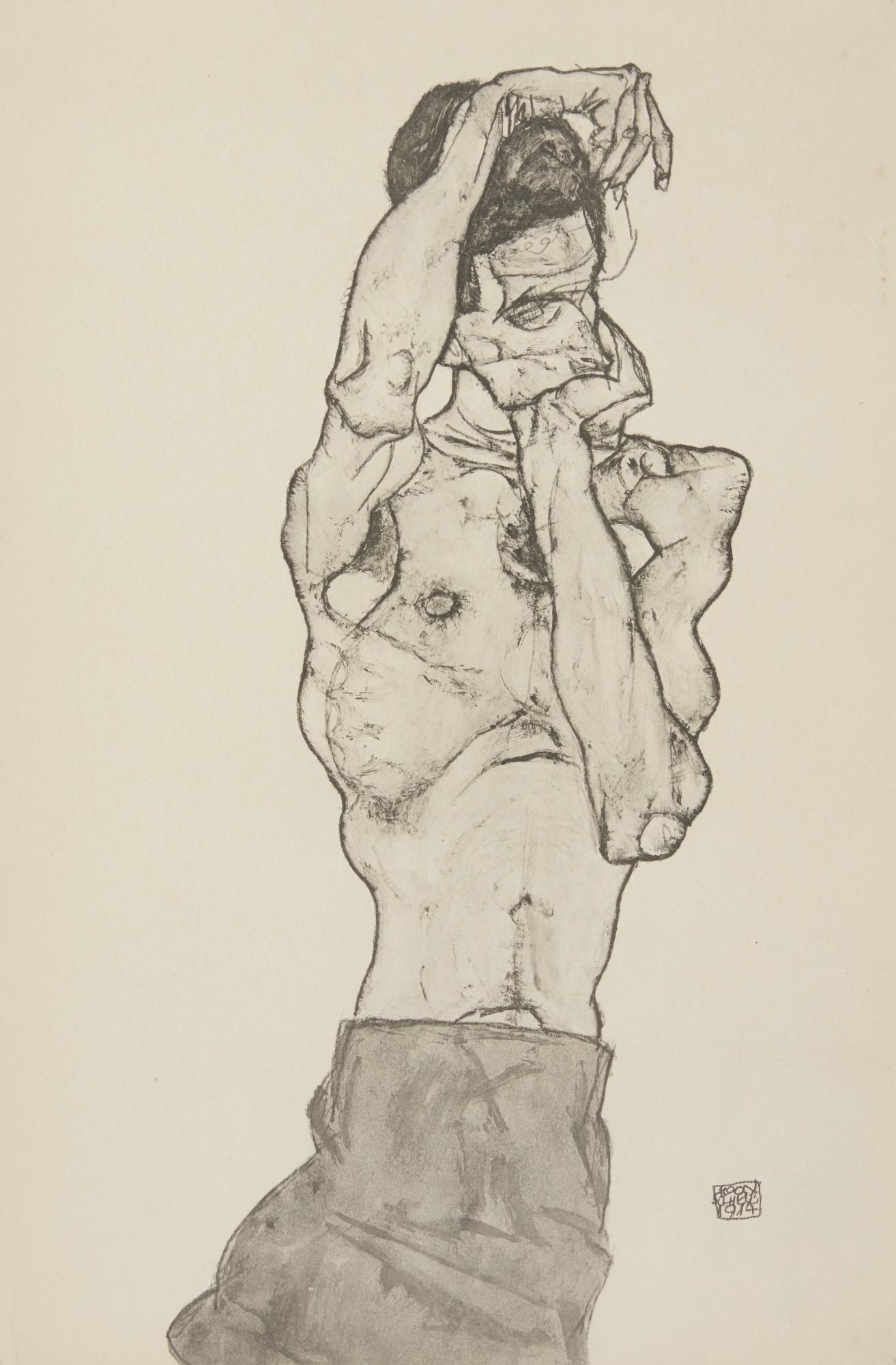 Egon Schiele-After Egon Schiele - Zeichnungen-1917