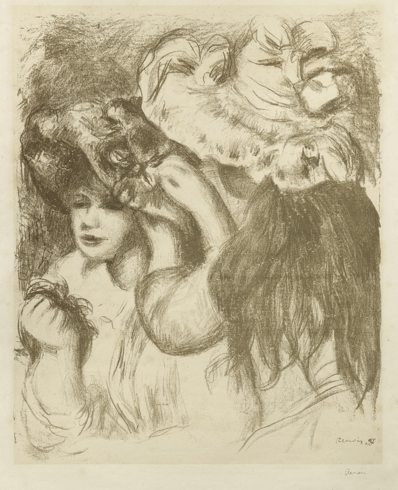 Pierre-Auguste Renoir-Le Chapeau Epingle (Premiere Planche) (Delteil 29)-1897