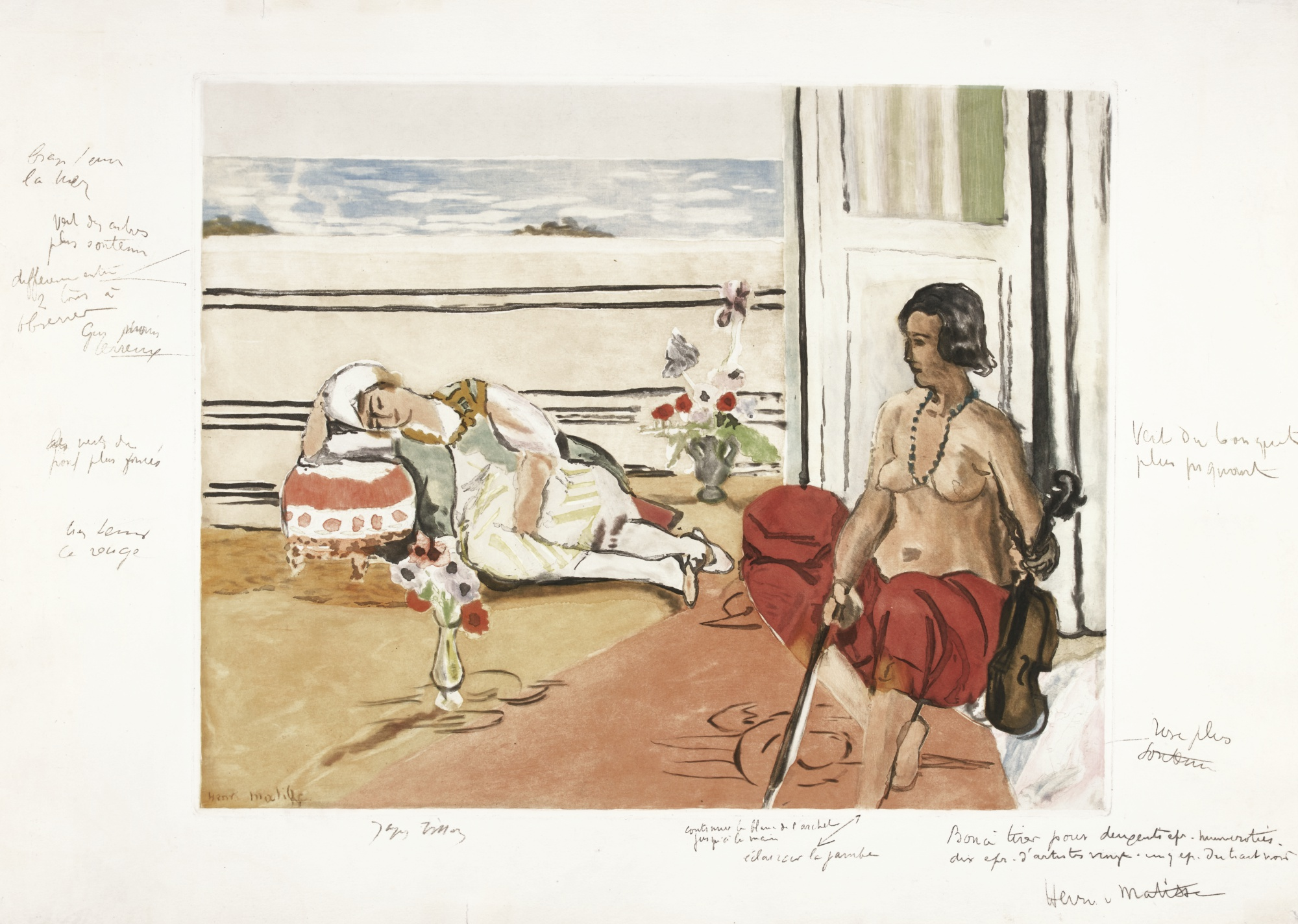 Jacques Villon-Jacques Villon After Henri Matisse - Odalisque Sur La Terrasse (G&P; E. 633)-1922