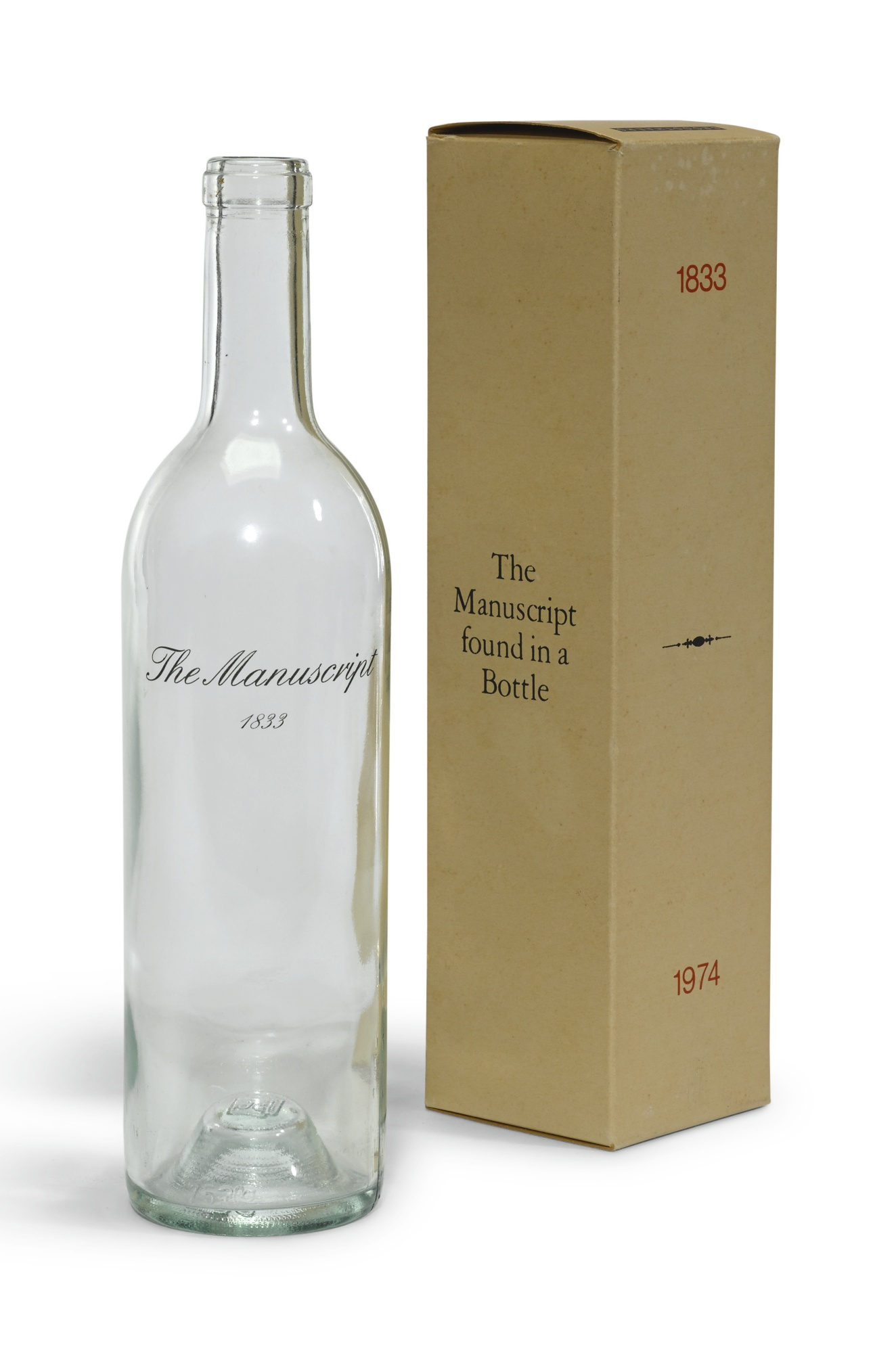 Marcel Broodthaers-The Manuscript Found In A Bottle-1974