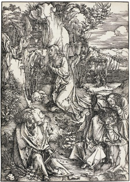 Albrecht Durer-The Man Of Sorrows Mocked By A Soldier; Christ On The Mount Of Olives; And Christ Carrying The Cross (B. 4, 6, 10; M., Holl. 113, 115, 119)-1511
