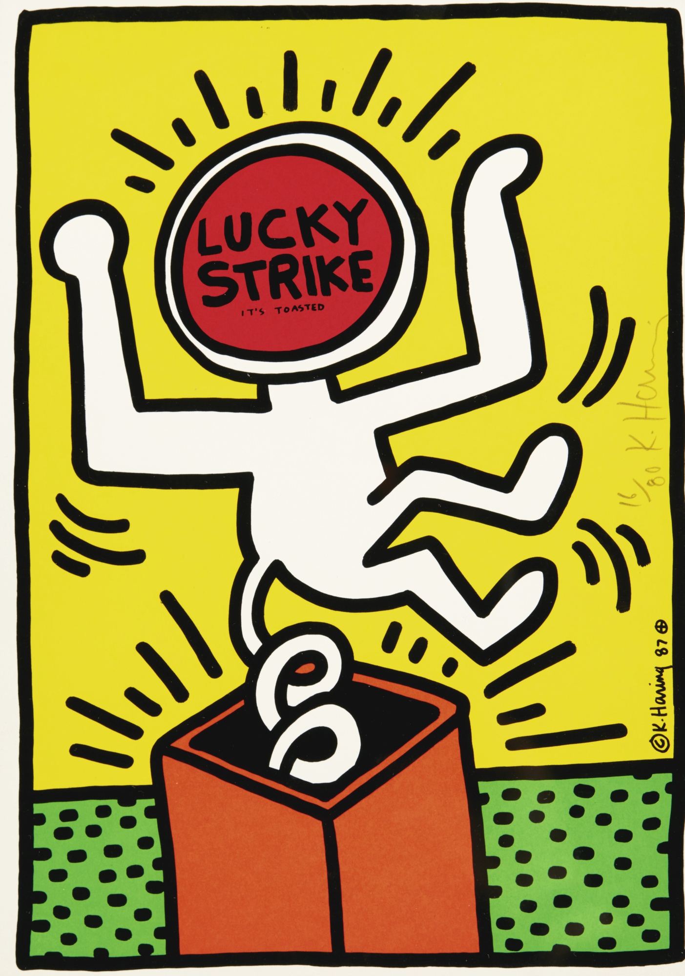 Keith Haring-Lucky Strike: One Plate (Littmann P. 78)-1987