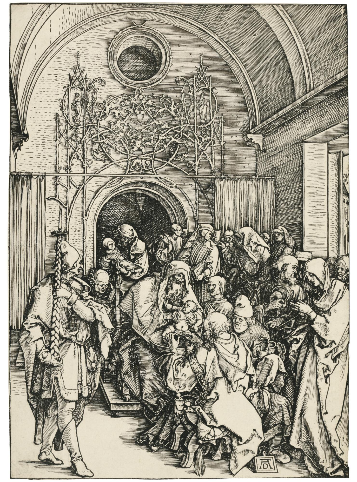Albrecht Durer-The Circumcision (B. 86; M., Holl. 198)-1505
