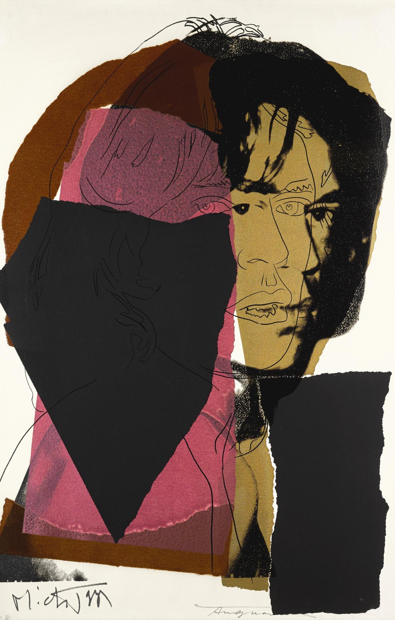 Andy Warhol-Mick Jagger (Feldman And Schellmann II.139)-1975
