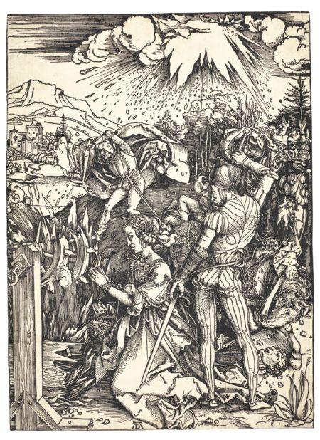 Albrecht Durer-The Martyrdom Of St. Catherine (B. 120; M., Holl. 236)-1498