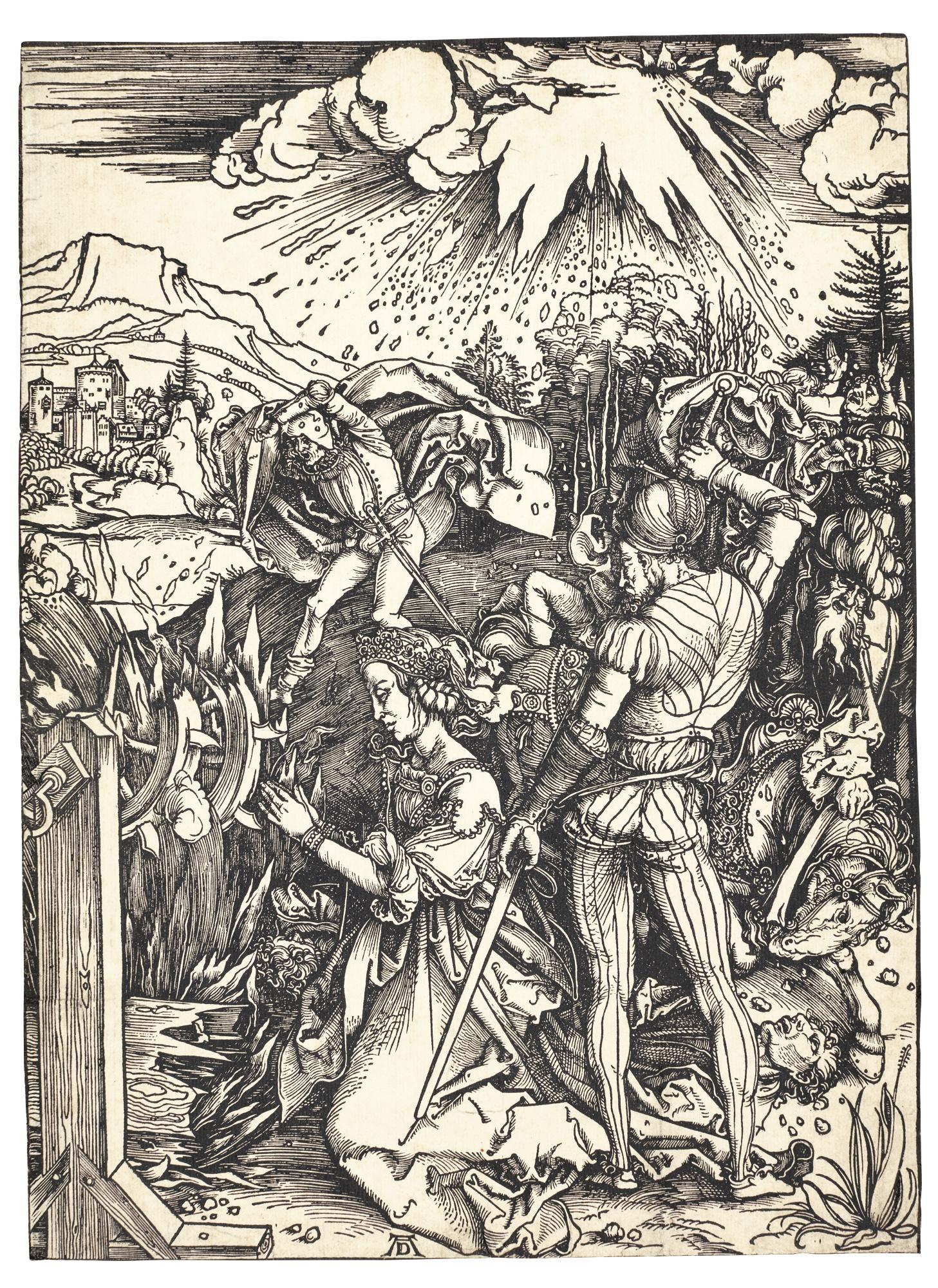 Albrecht Durer-The Martyrdom Of St. Catherine (B. 120; M., Holl. 236)-1498