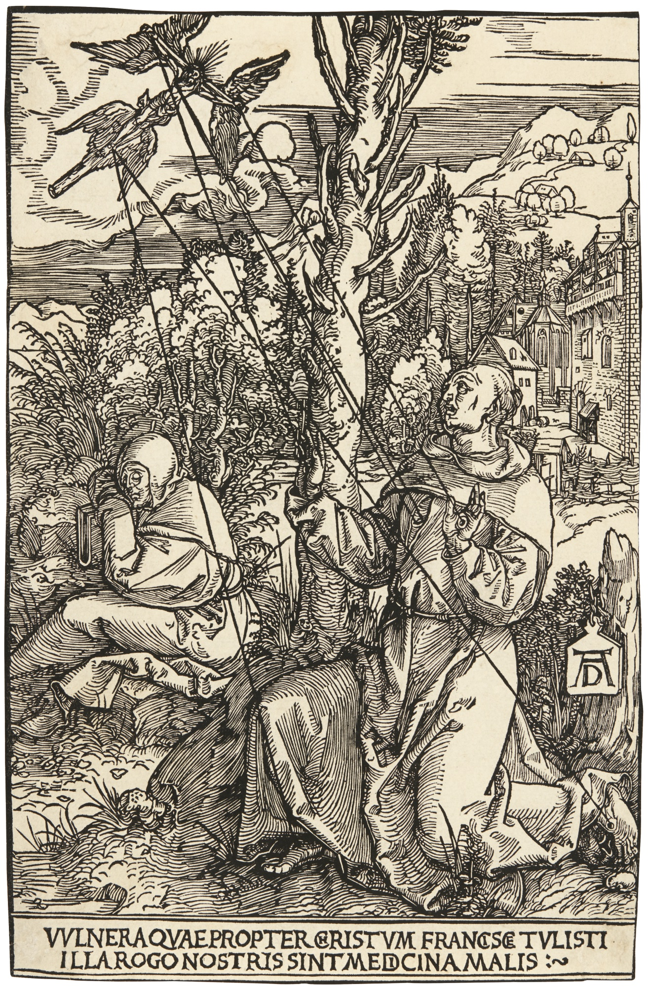 Albrecht Durer-Saint Francis Receiving The Stigmata (B. 110; M., Holl. 224)-1504
