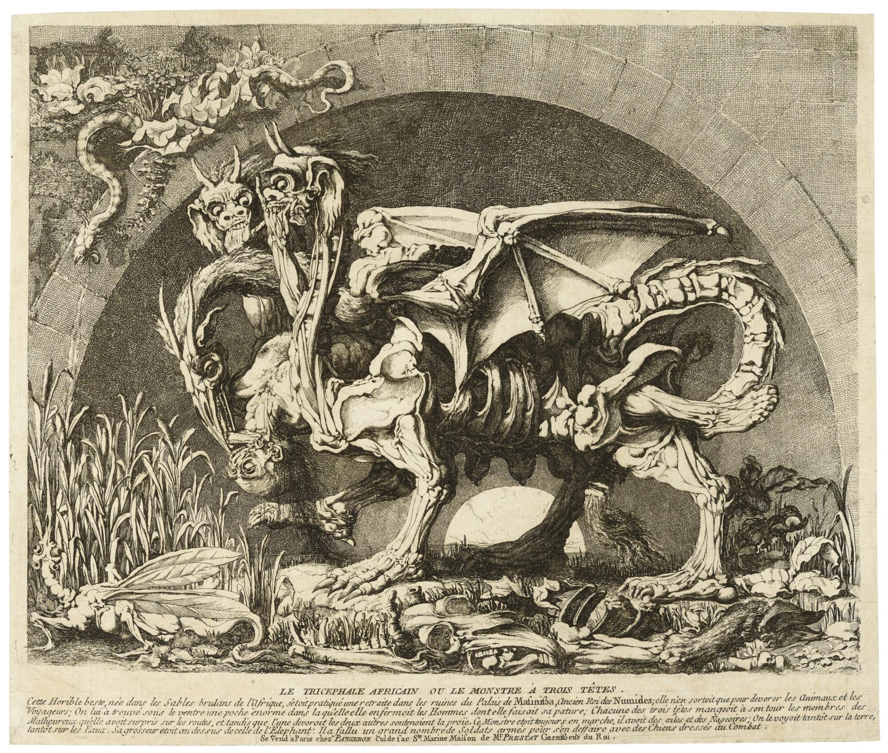 Louis Jean Desprez-La Chimere De Monsieur Desprez (Wollin 22; Baudicour 6)-1784