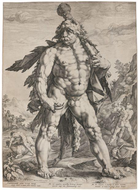 Hendrick Goltzius-The Large Hercules (B. 142; Holl. 143; Strauss 283)-1589