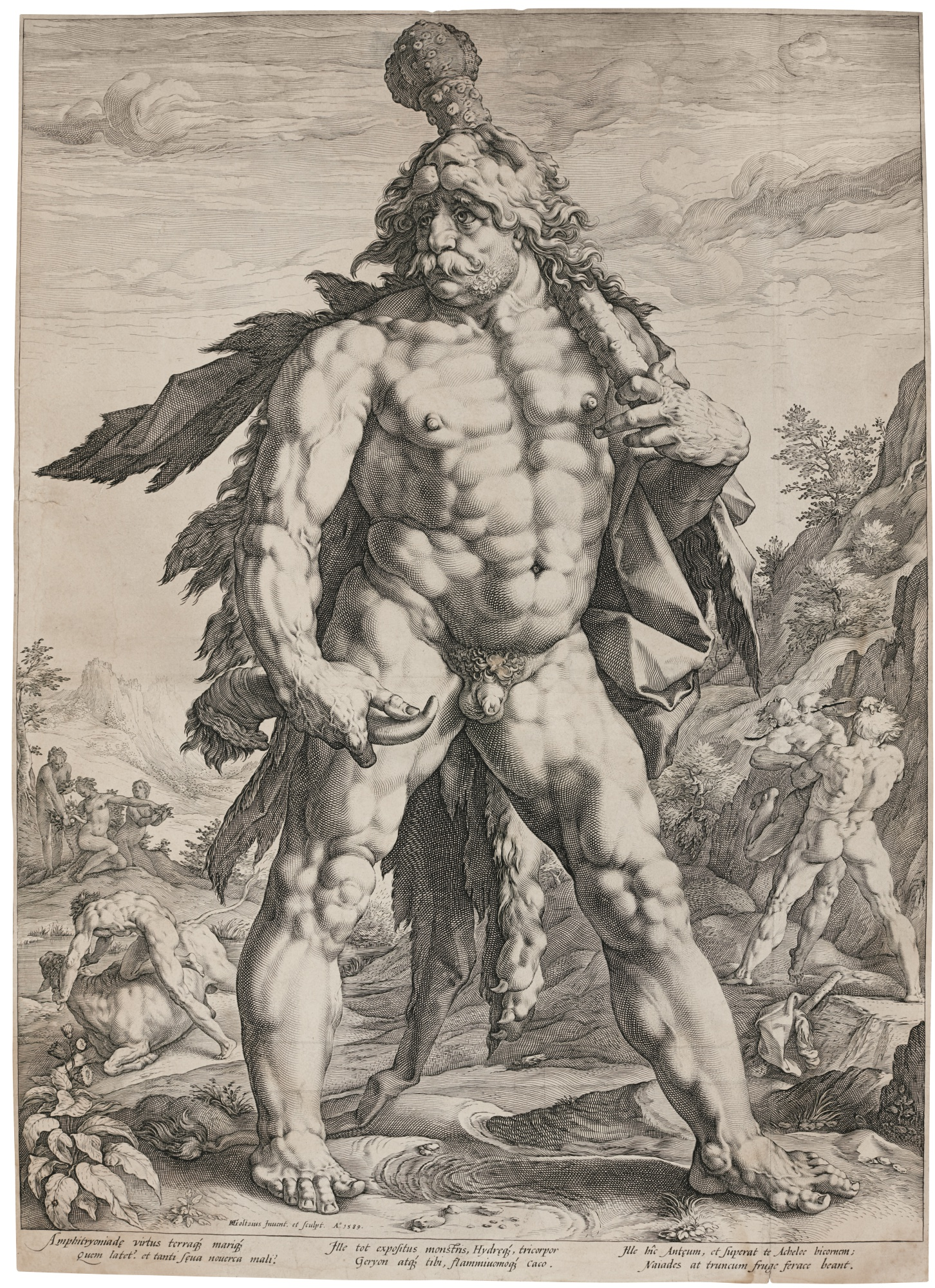 Hendrick Goltzius-The Large Hercules (B. 142; Holl. 143; Strauss 283)-1589