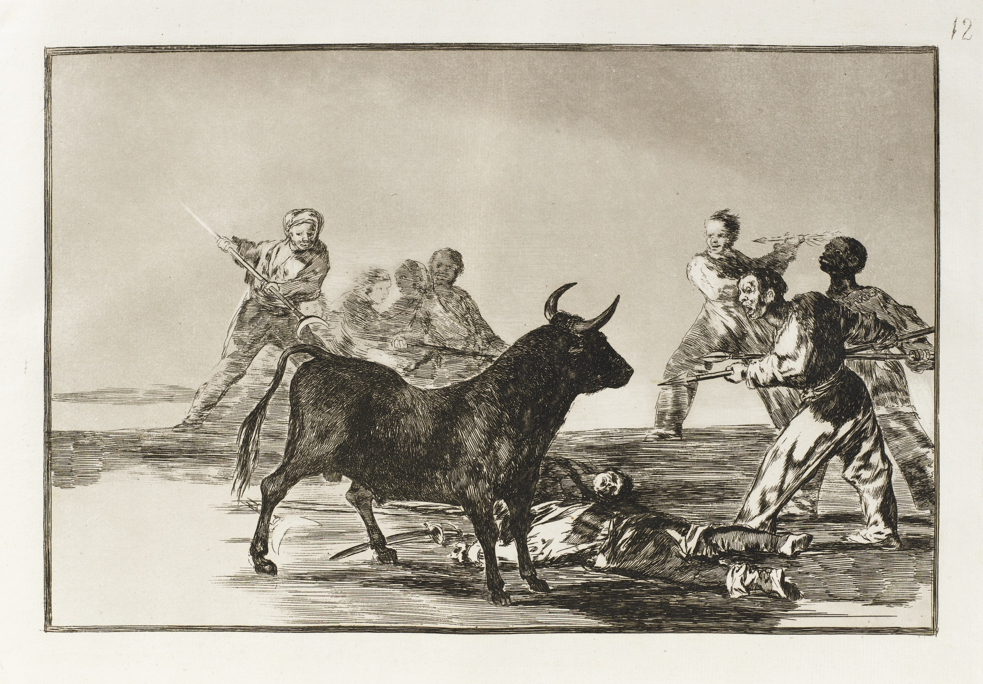 Francisco de Goya-La Tauromaquia (Delteil 224-256; Harris 204-236)-1816