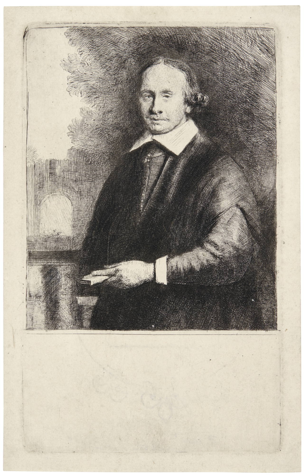 Rembrandt van Rijn-Jan Antonides Van Der Linden (B., Holl. 264; New Holl. 314; H. 268)-1665