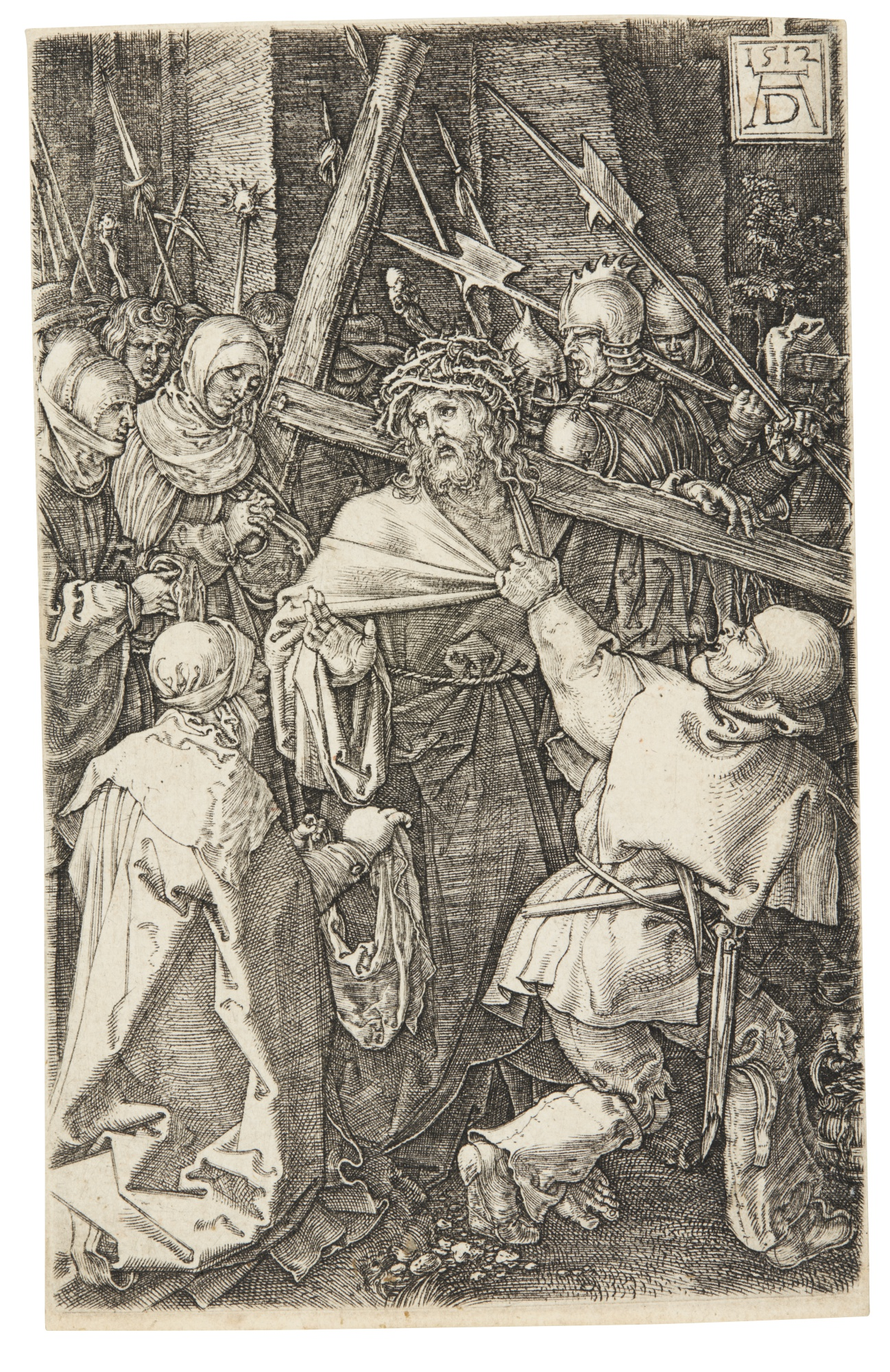 Albrecht Durer-Pilate Washing His Hands; Christ Carrying The Cross; And St Thomas (B. 11, 12, 48; M., Holl. 11, 12, 50)-1512