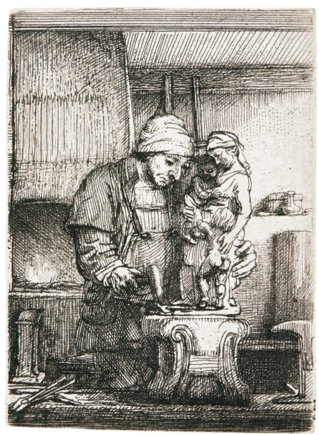 Rembrandt van Rijn-The Goldsmith (B., Holl. 123; New Holl. 289; H. 285)-1655