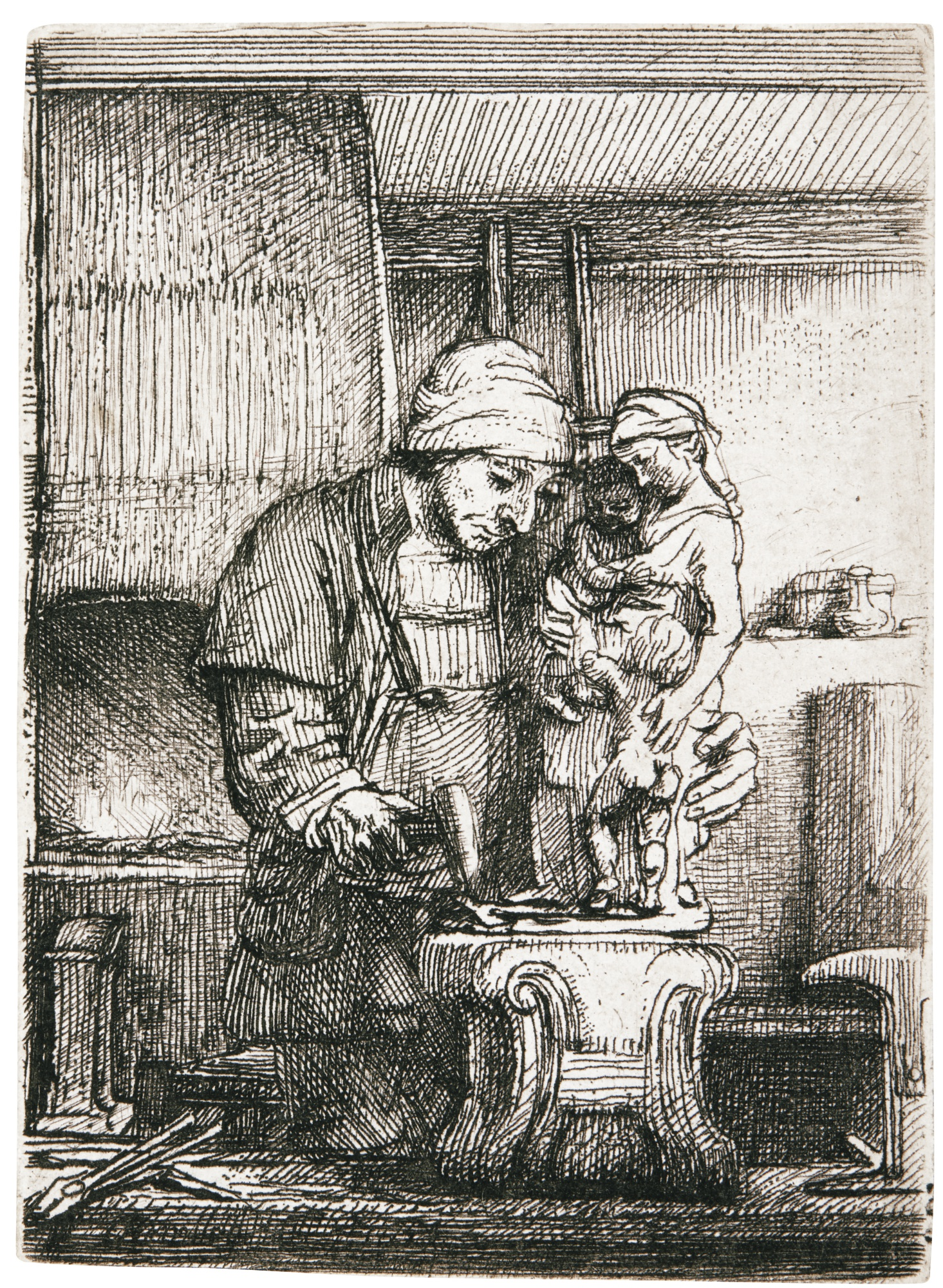 Rembrandt van Rijn-The Goldsmith (B., Holl. 123; New Holl. 289; H. 285)-1655