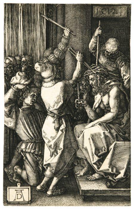 Albrecht Durer-Christ Crowned With Thorns (B., M., Holl. 9)-1512