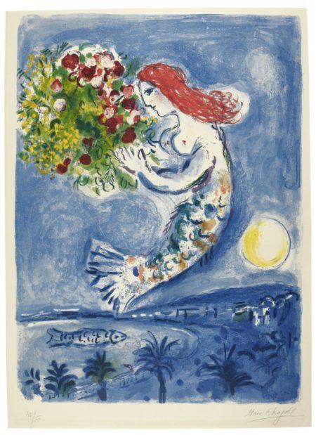 Marc Chagall-La Baie Des Anges (Mourlot 350)-1962